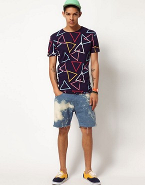 Image 4 ofWorn By Triangle Print T-Shirt
