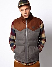 Vans Gilet Bridger Down Filled Contrast Shoulder