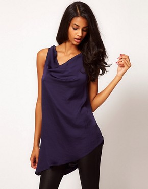 Image 2 ofASOS Top With Draped Asymmetric Cowl Back