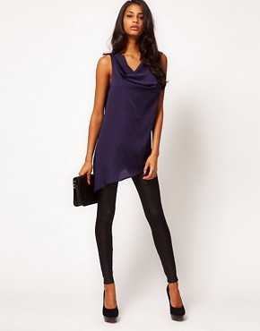 Image 4 ofASOS Top With Draped Asymmetric Cowl Back