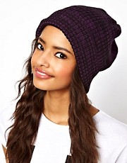 ASOS Mixed Knit Boyfriend Beanie