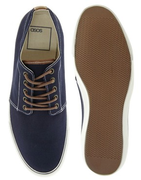 Image 3 ofASOS Plimsolls With Contrast Heel