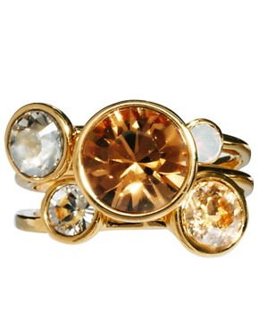 Image 2 ofTed Baker Jewel Cluster Stacking Ring