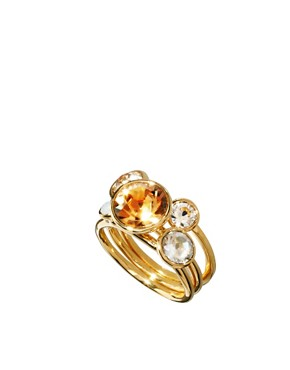Image 1 ofTed Baker Jewel Cluster Stacking Ring