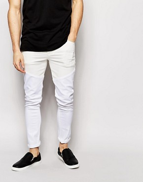 ASOS Super Skinny Jeans With Cut and Sew Detail