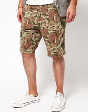 Edwin Chino Shorts Camo Herringbone