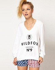 Wildfox No.9 V Neck Jumper