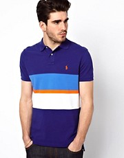 Polo Ralph Lauren Polo with Chest Stripe in Custom Fit