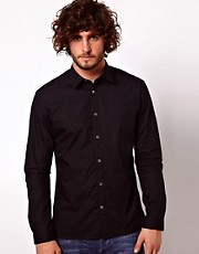 Paul Smith Jeans Shirt with Bluff Edge Collar in a Tailored Fit