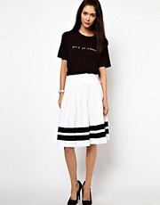 Lulu &amp; Co Full Skirt with Black Trim