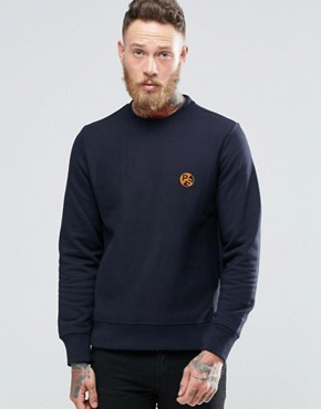 Paul Smith Sweatshirt With PS Logo In Navy