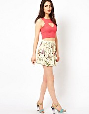 Oh My Love Car Print Skater Skirt