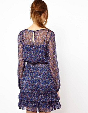 Image 2 ofWarehouse Grunge Ditsy Dress