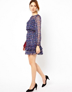 Image 4 ofWarehouse Grunge Ditsy Dress