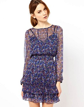 Image 1 ofWarehouse Grunge Ditsy Dress