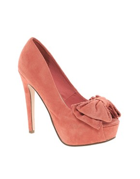 Image 1 ofMiss KG Annalise Bow Front Platform Peep Toe Shoes
