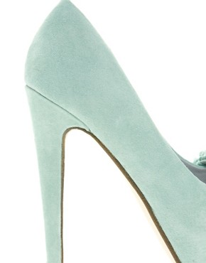 Image 3 ofMiss KG Annalise Bow Front Platform Peep Toe Shoes