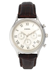 Fossil FS4738 Brown Leather Strap Watch