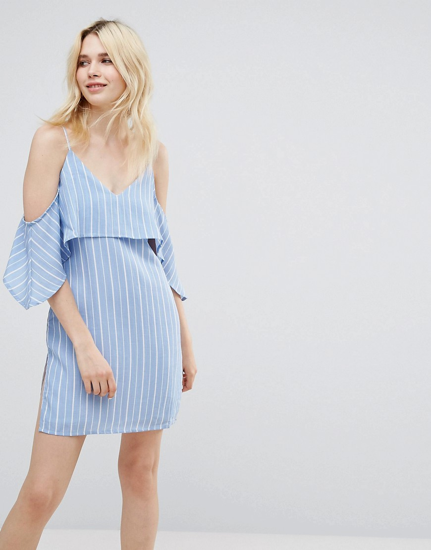 A State Of Being Unknown Cold Shoulder Dress