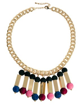 Image 2 ofASOS Flocked Ball Necklace
