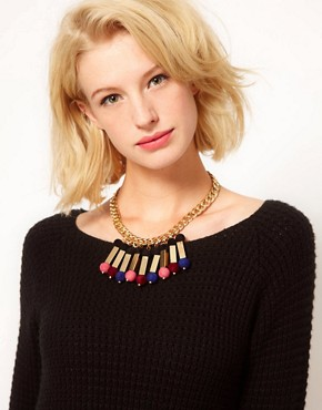 Image 3 ofASOS Flocked Ball Necklace