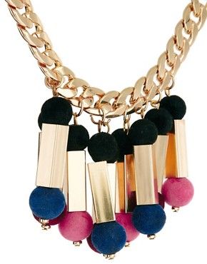 Image 4 ofASOS Flocked Ball Necklace