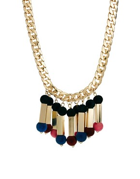 Image 1 ofASOS Flocked Ball Necklace