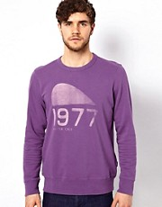 Paul Smith Jeans Sweatshirt with 1977 Print