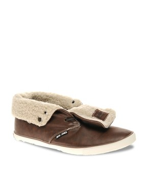 Image 1 ofJack &amp; Jones Intelligence Transfer Fur-Lined Chukka Boots