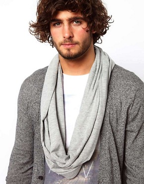 Image 2 of ASOS Grey Jersey Snood