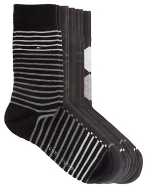 Image 3 ofTommy Hilfiger Mixed 5 Pack Gift Socks