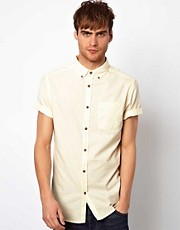 Camisa Oxford de manga corta en color pastel de River Island