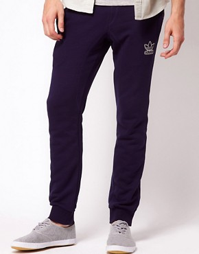 Image 1 ofAdidas Originals Fleece Jogging Pants Slim Fit