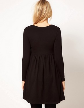 Image 2 ofASOS MATERNITY Wrap Dress with 3/4 Sleeve