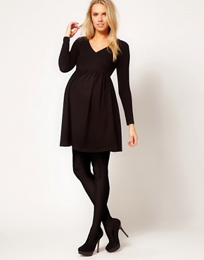 Image 4 ofASOS MATERNITY Wrap Dress with 3/4 Sleeve