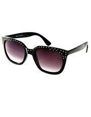 ASOS Studded Detail Retro Sunglasses