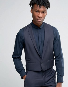 Hart Hollywood by Nick Hart Slim Waistcoat in Texture