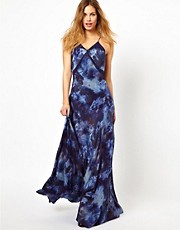 Gestuz Printed Silk Maxi Dress