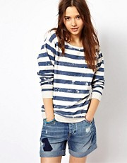 River Island Stripe Sweat