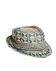 River Island Straw Trilby Hat