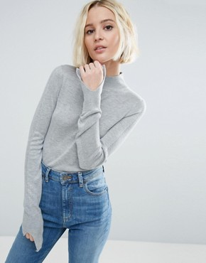 ASOS Jumper With Turtle Neck in Soft Yarn