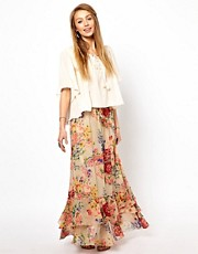 Denim &amp; Supply Fluted Maxi Skirt