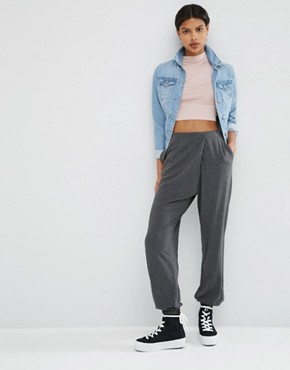 ASOS Jersey Wrap Peg Trousers