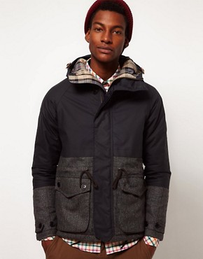 Image 1 ofBarbour Jacket Oxford Insulated Contrast Wool