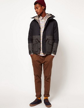 Image 4 ofBarbour Jacket Oxford Insulated Contrast Wool