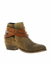 H by Hudson Horrigan Biege Strap Ankle Boots
