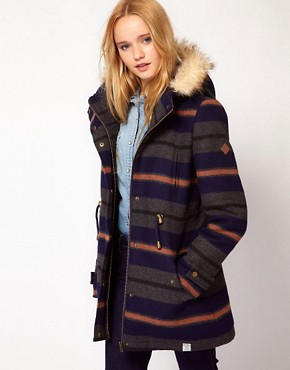 Image 1 ofBellfield Hooded Striped Jacket