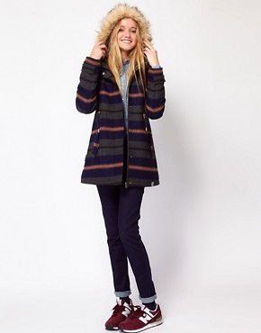 Image 4 ofBellfield Hooded Striped Jacket