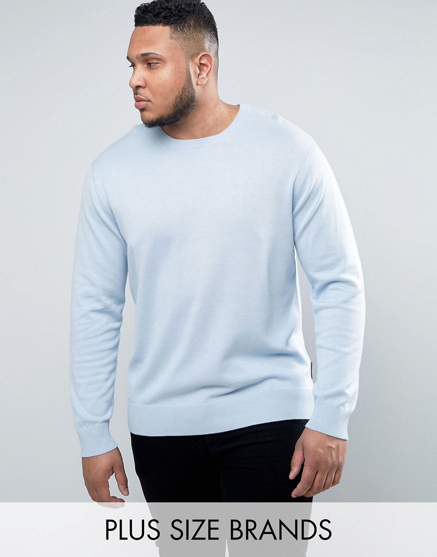 French Connection PLUS Lightweight Crew Neck Jumper - Blue