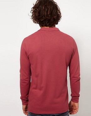 Image 2 ofPaul Smith Jeans Pique Long Sleeve Zebra Polo